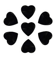 Конфетти сердечки черные, 50 грамм