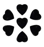Конфетти сердечки черные, 100 грамм