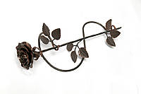 Кованая роза с подставкой