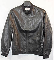 Куртка мужская кожзам молодежная стиль бомбер на молнии размеры L-3XL  купить оптом со склада 7км Одесса
