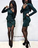 Женское красивое платье с брошью (3 цвета), фото 4