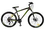 """Горный велосипед CROSSER CROSS 26"""", 18""""  Серый/Салатовый"""
