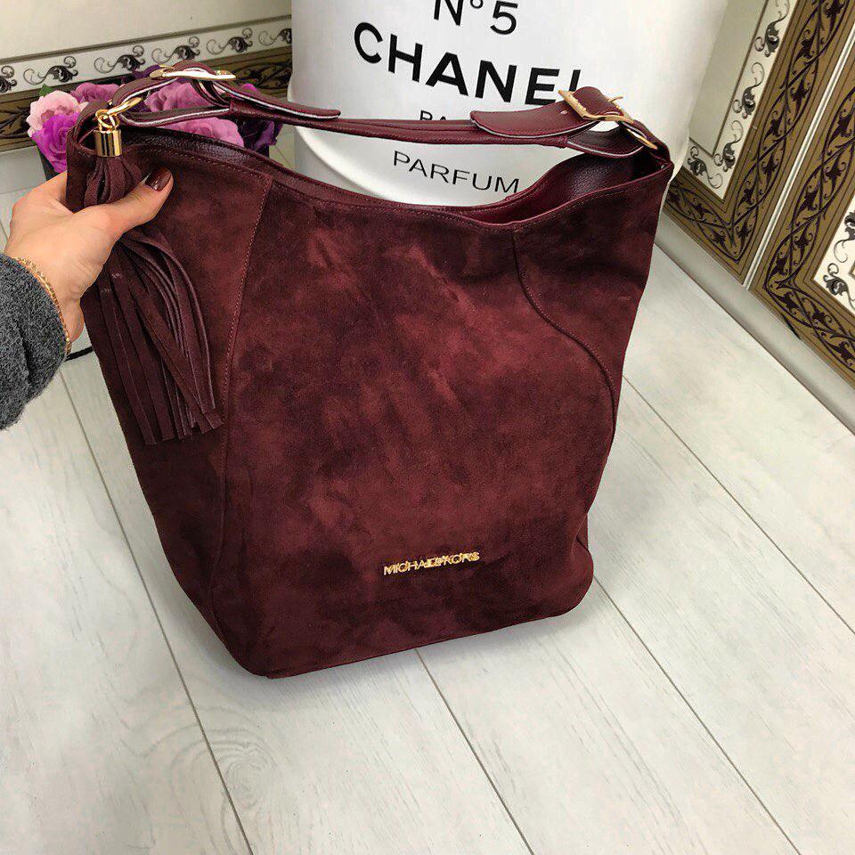 Стильная женская сумка на каждый день из искусственной замши