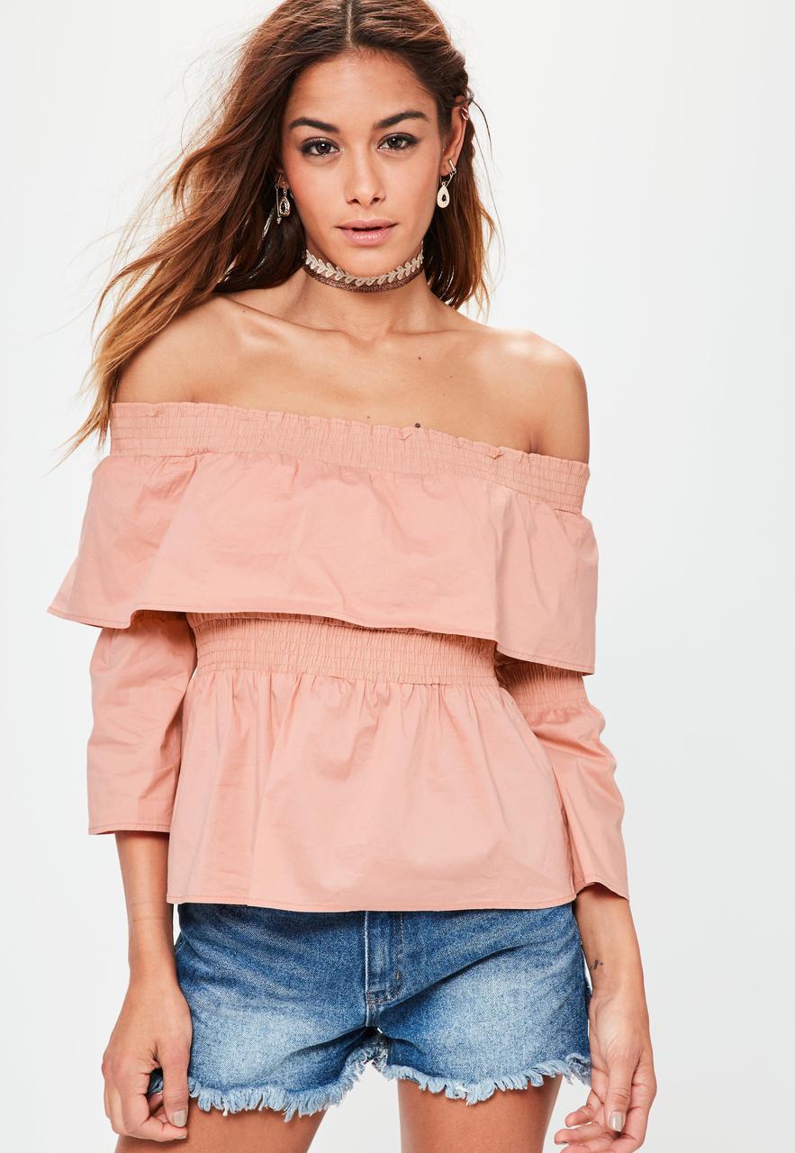 Блуза с открытыми плечами Missguided