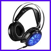 Наушники Hoco W7 Flash Gaming black с микрофоном