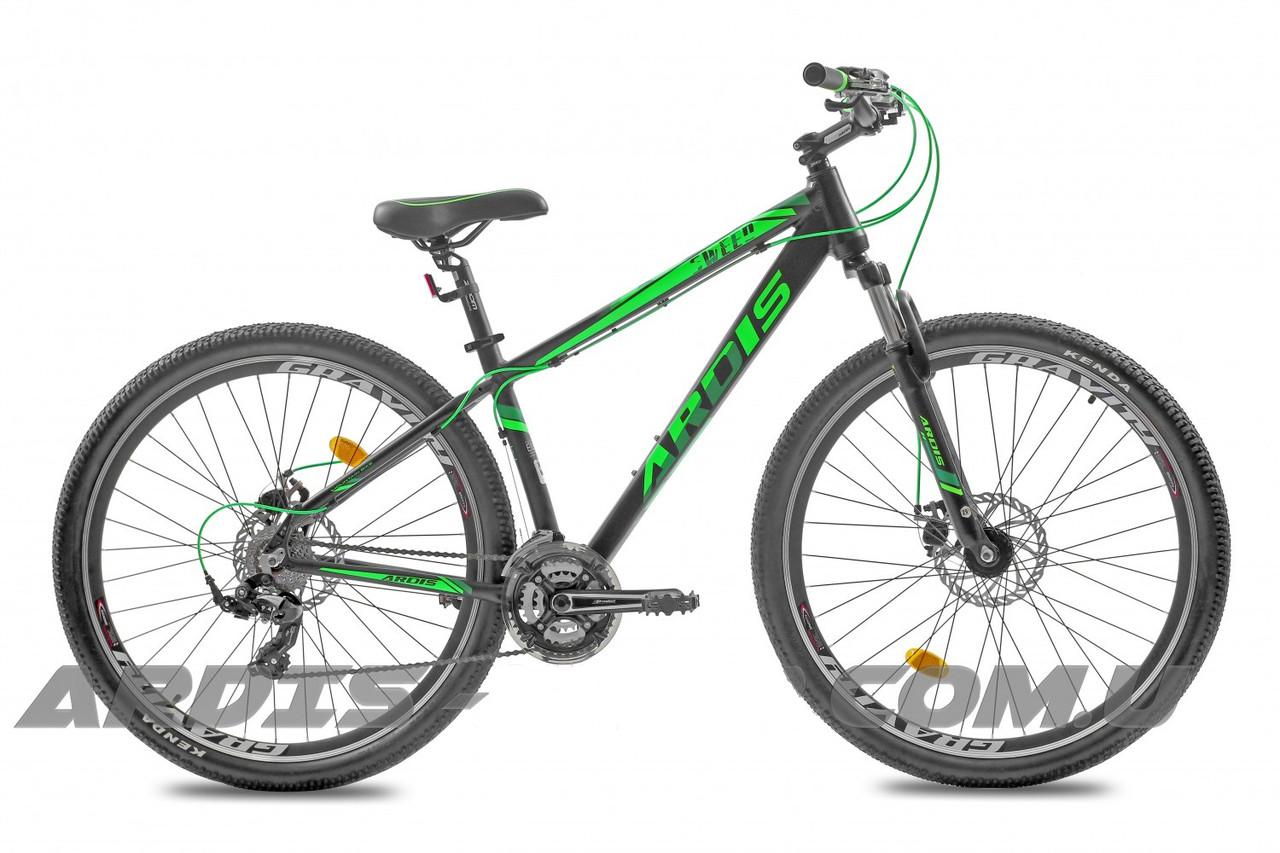 """Горный велосипед ARDIS SWEED 27,5"""" 16,5""""  Черный/Салатовый"""
