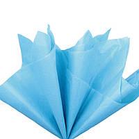 Бумага тишью Лазурный голубой 50x70 см Папиросная 23 гр/м 30 шт/уп подарочная упаковочная Польша