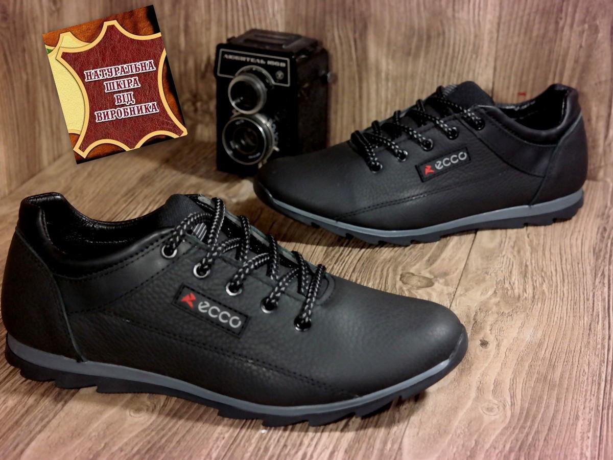 d600168ee Мужские кожаные туфли кроссовки ECCO весна осень демисезон все размеры