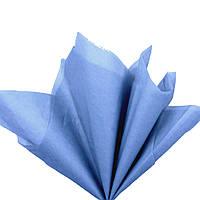 Папір тишею Темно-сіро-блакитний 50x70 см Цигарковий 23 гр/м 30 шт/уп подарункова пакувальна Польща