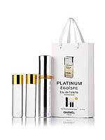 Набор духов Chanel Platinum Egoiste 3 х 15 мл в подарочной упаковке копия