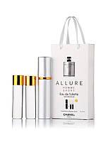 Набор духов Chanel Allure Homme Sport 3 х 15 мл в подарочной упаковке копия