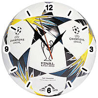 """Настенные часы """"Мяч лиги чемпионов 2018"""" из стекла , фото 1"""