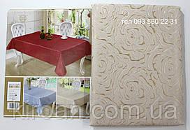 Скатерть на стол 145x205см Бежевая роза