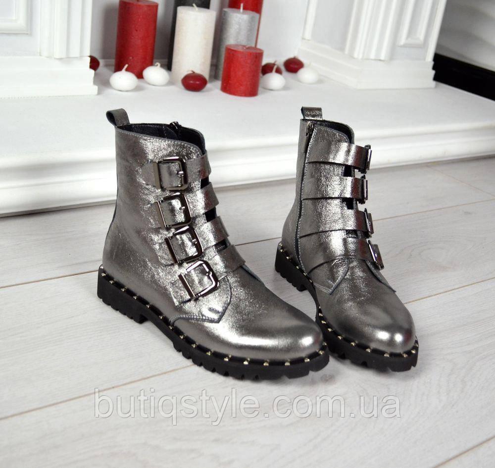 36, 41 размер! Красивые женские ботинки никель кожа