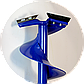 Ледобур АйДабур (iDabur) стандарт 130мм кованные ножи, фото 6