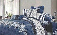 Комплект ЕВРО постельного белья  Индиго
