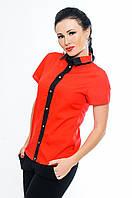 """Красная блузка рубашки  """"Oxford"""" до р.52"""