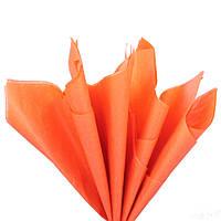 Папір тишею Помаранчева 50x70 см Цигарковий 23 гр/м 30 шт/уп подарункова пакувальна Польща