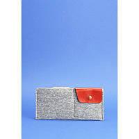 Женское портмоне из натуральной кожи BlankNote-купюрник 8.0 фетр коньяк