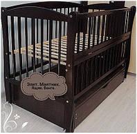 Кроватка для новорожденного Элит,с ящиком. тм Дубык М.