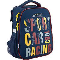 Рюкзак Kite школьный каркасный Car Racing
