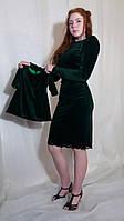 Платье женское однотонное из бархата миди мама и дочька Сукня жіноча міді вечірня