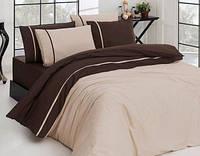 Комплект постельного белья First Choice Ecru Koyukahve сатин 220-200 см коричневый, фото 1