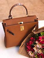 Женская сумка Hermes Kelly 28 см натуральная кожа