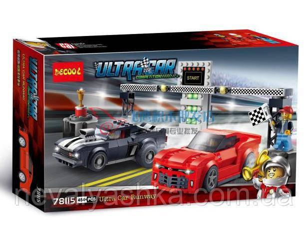 Конструктор DECOOL Speed Camaro Drag Race Гонки, 454 дет., 78115 (75874), 006756