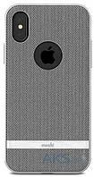 Чехол Moshi Vesta Textured Hardshell Case Apple iPhone X Herringbone Gray (99MO101031)
