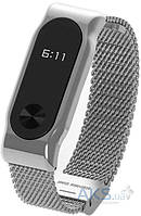 Ремешок Steel Wicker Design к спортивному браслету Xiaomi Mi Band 2 Silver