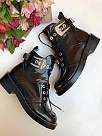 Крутые женские ботинки закрытые BALENCIAGA Creepers с ремешками (реплика)