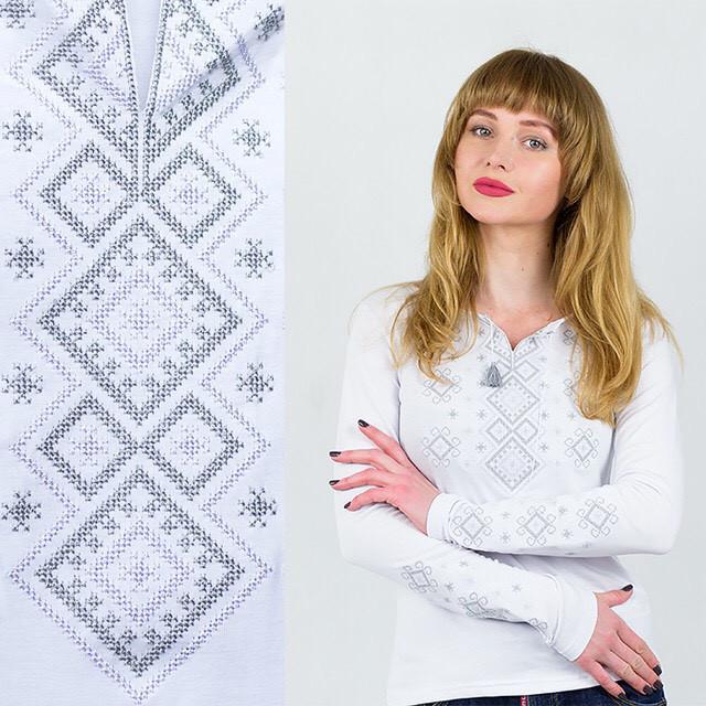 Трикотажная вышиванка женская Геметрия