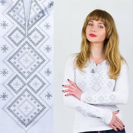 Трикотажная вышиванка женская Геметрия, фото 2