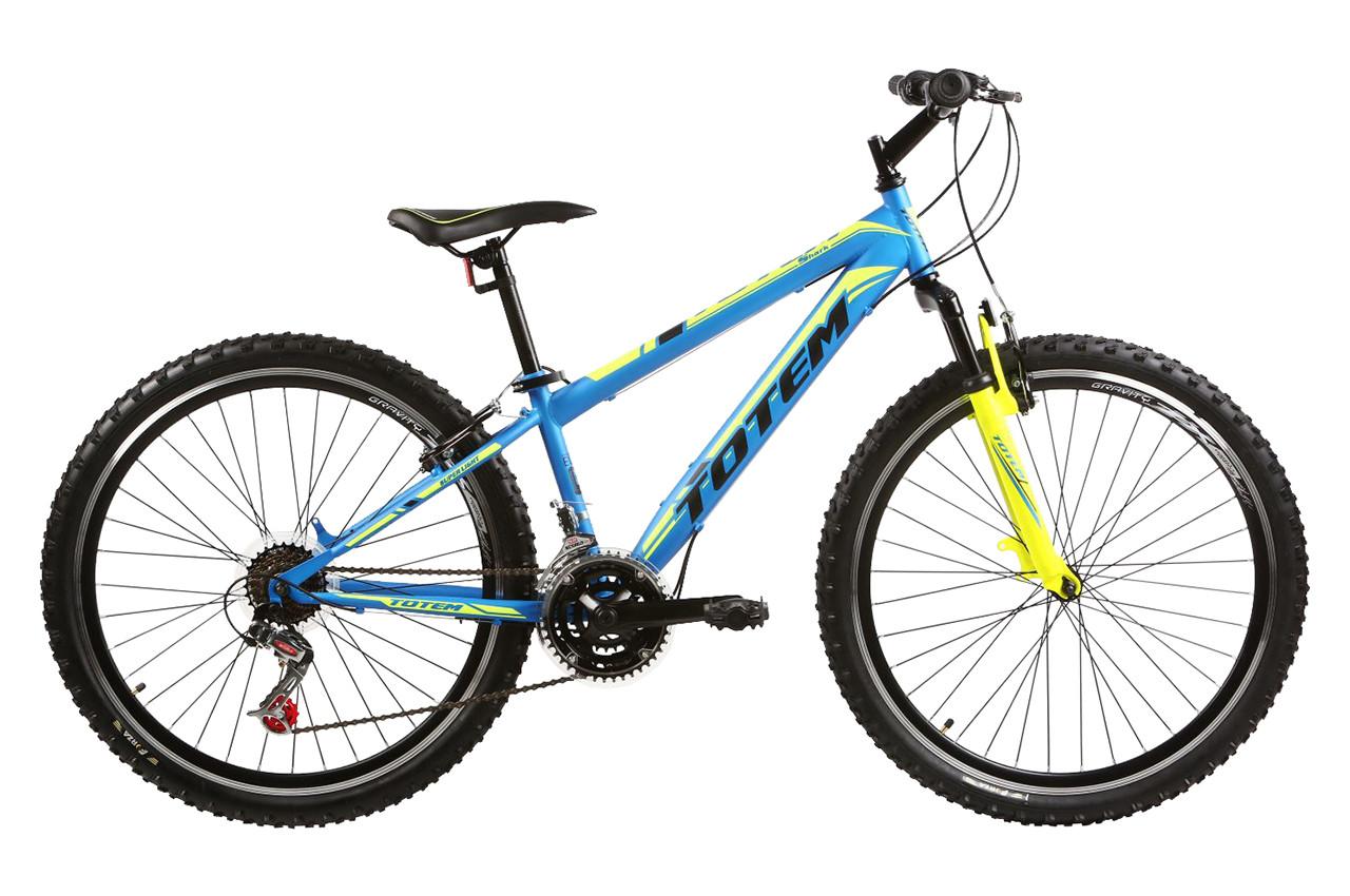 "Горный велосипед TOTEM MTB SHARK 26"" Голубой/Желтый"