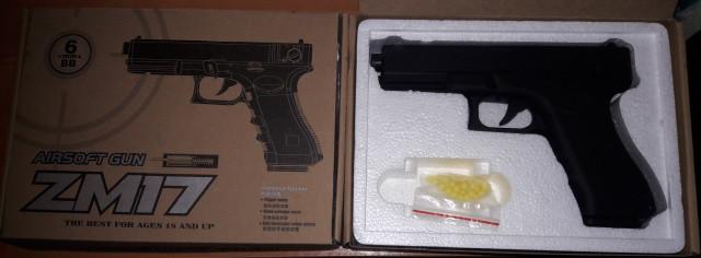 Пистолет метал+ABC пластик ZM 17 Glock 18C Airsoft Gun