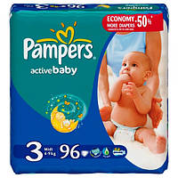 Подгузники Pampers Active Baby Midi 3 (4-9 кг) 96 шт