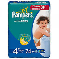 Подгузники Pampers Active Baby Maxi Plus 4+ (9-20 кг) 74 шт