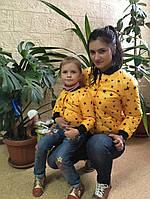 """Куртка  """"Американка """" для мамы и ребенка"""