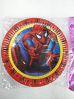 """Акция !!! Тарелки для детского Дня Рождения """" Человек паук"""""""