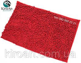 Мягкий коврик в ванную комнату Лапша (макароны) 49х79см Красный