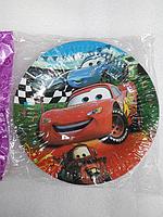 """Акция !!! Тарелки одноразовые бумажные детские в стиле   """" Тачки"""""""