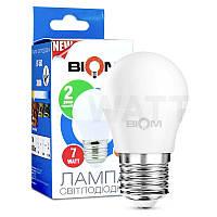 Лампа светодиодная Biom 7w g45 e27 тёплый свет