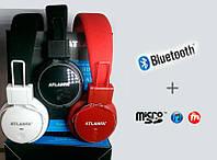 Беспроводные наушники Bluetooth ATLANFA 7611 (большие наушники блютуз со встроенным MP3)
