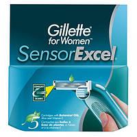 Сменные кассеты Gillette Sensor Excel 5 шт в уп / продажа по 1 шт