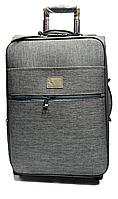 Чемодан дорожный (малый) серого цвета Ч35