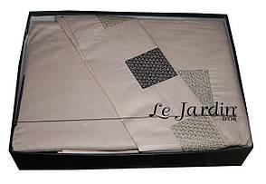 Постельное белье Евро с вышивкой Manolya Cappuccino Le Jardin, фото 2