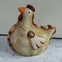 Пасхальная курочка - статуэтка из керамики, 9.5х9 см., 40 гр.