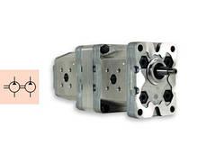 Внешние тандемные шестеренные насосы Marzocchi 1P4,2-5 / Marzocchi external gear double pumps 1P4,2-5