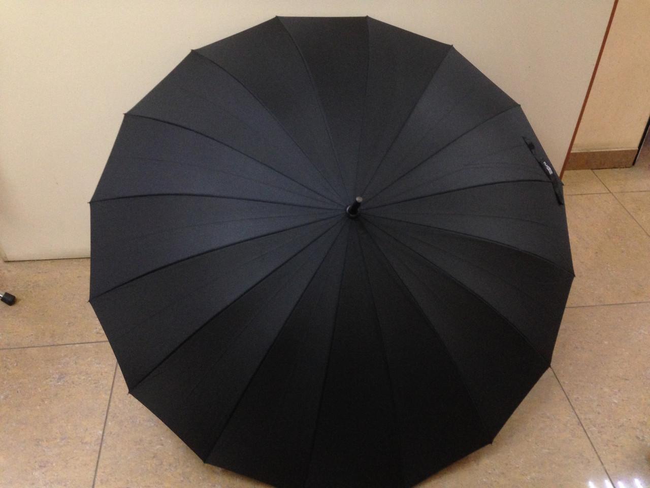 Мужской зонт-трость на 16 карбоновых спиц